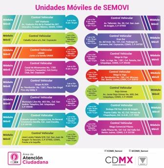 Semovi Pone En Operación 15 Módulos Móviles En La Cdmx